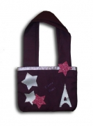 art textile mode villes sac paris star violet : Sac � main �toile i love paris tour eiffel liberty prune rose ba